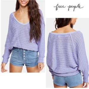 FreePeople Thien's Hacci  V-neck Sweater